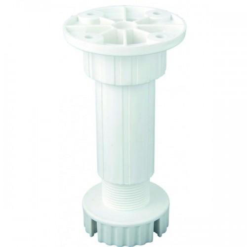 Πόδια ντουλαπιών, πλαστικά λευκά, 10 cm, FF GROUP